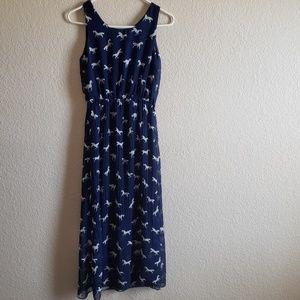 Dresses & Skirts - Blue horse pattern dress